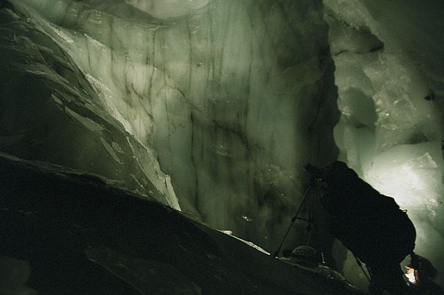 Zdj�cia: Hornsund, Spitsbergen, Eksploracja jaski� w lodowcach, SVALBARD