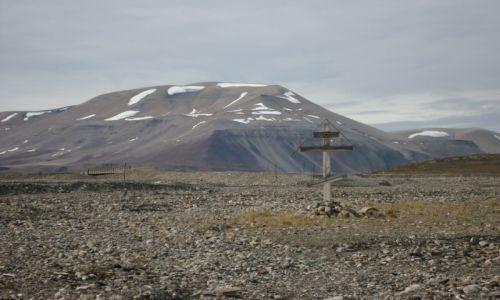 Zdjecie SVALBARD / Spitsbergen / okolice Pyramiden / Samotny krzy�