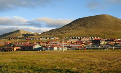 Zdjecie SVALBARD / Spitsbergen / Longyearbyen / Panorama Longyearbyen