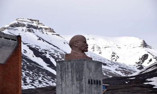 SVALBARD / Pyramiden / Pyramiden / Lenin w Arktyce