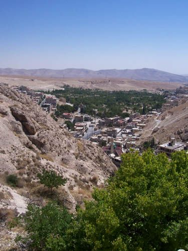 Zdjęcia: Maalula, Maalula widziana ze wzgórza, SYRIA