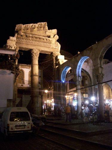 Zdjęcia: Damaszek, Stare Miasto w Damaszku nocą, SYRIA