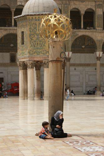 Zdj�cia: Damaszek, w Meczecie Umajjad�w 2, SYRIA