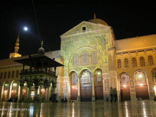 Zdjęcia: Damaszek, Meczet Ummajjadów nocą, SYRIA