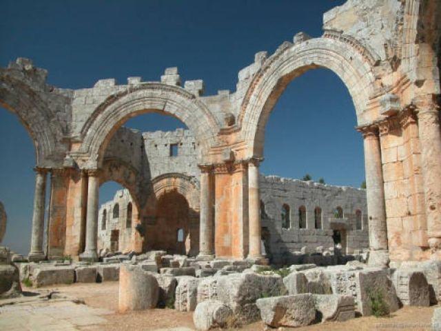 Zdjęcia: San Simon, Ruiny bazylik, SYRIA