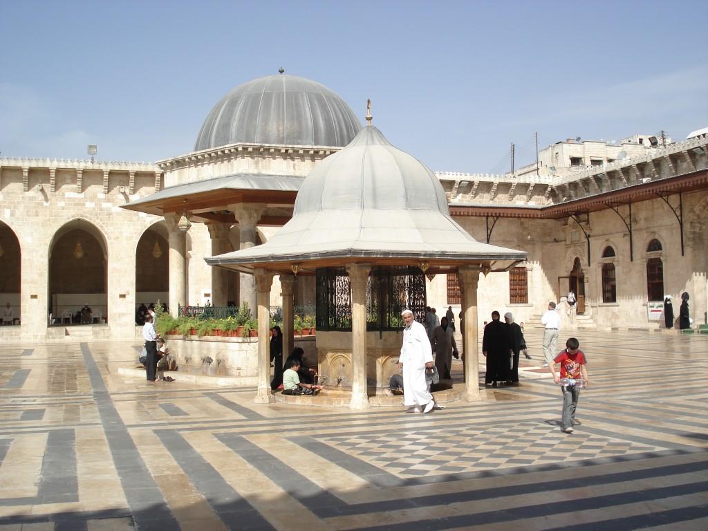 Zdjęcia: Aleppo/Halab, Stare Miasto, Aleppo, Dziedziniec meczetu Umajjadów, SYRIA