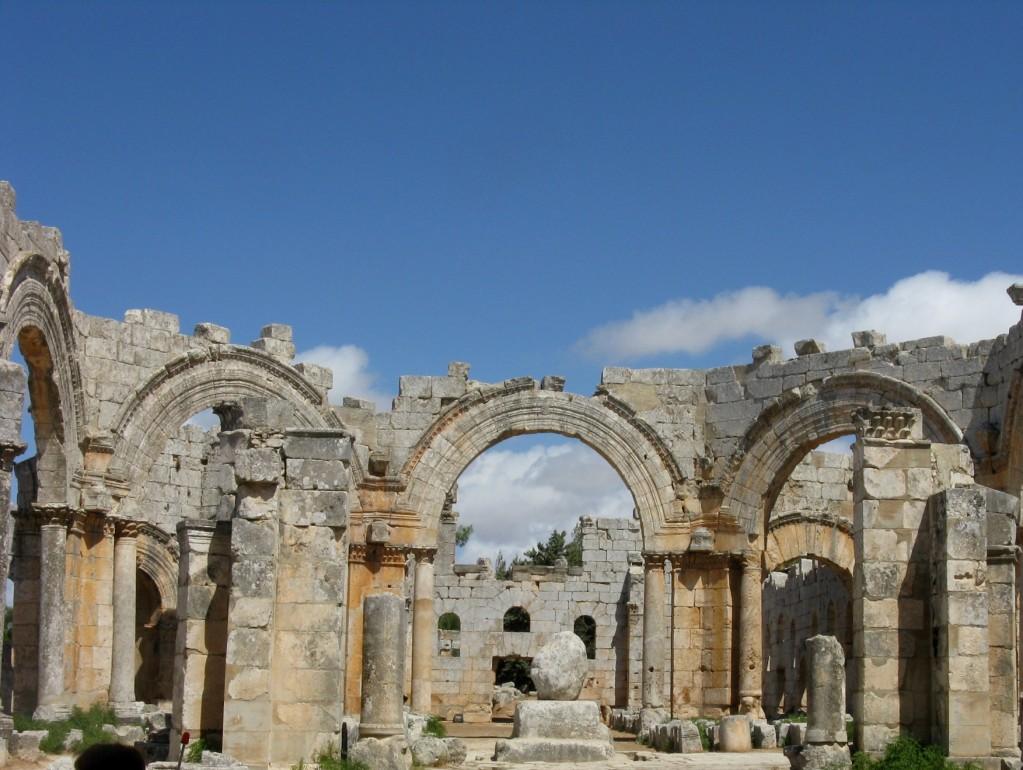 Zdjęcia: Kalat Seman,  Ruiny kościoła Szymona Słupnika, V w., SYRIA