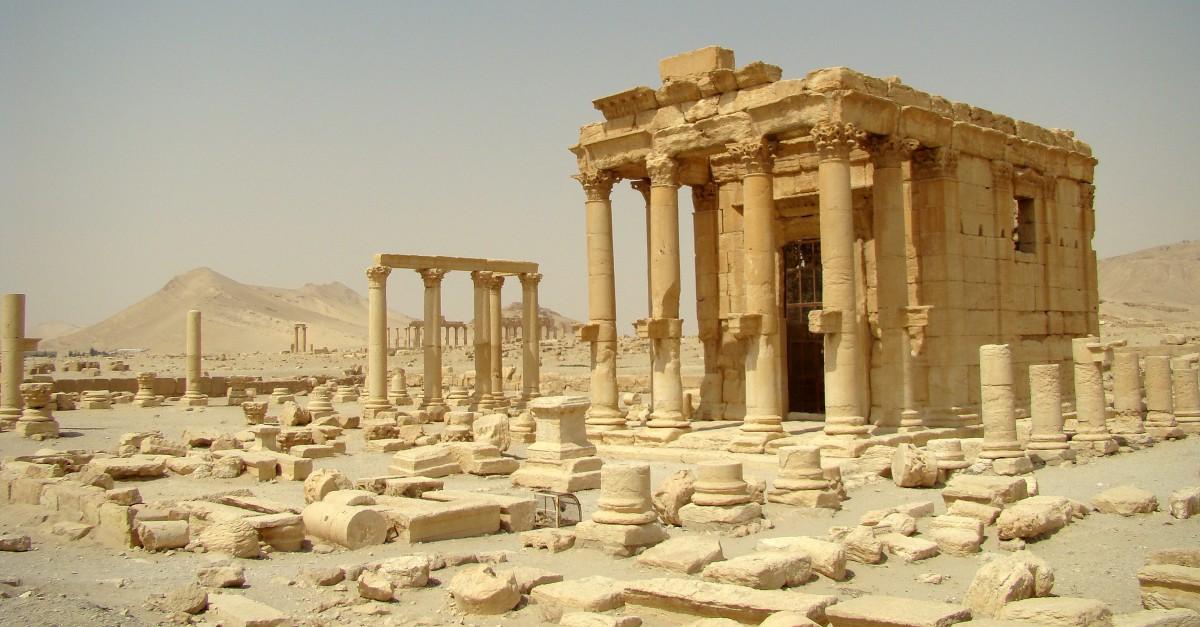 Zdjęcia: Palmyra, Pustynia Syryjska, Świątynia Baalszamina, SYRIA