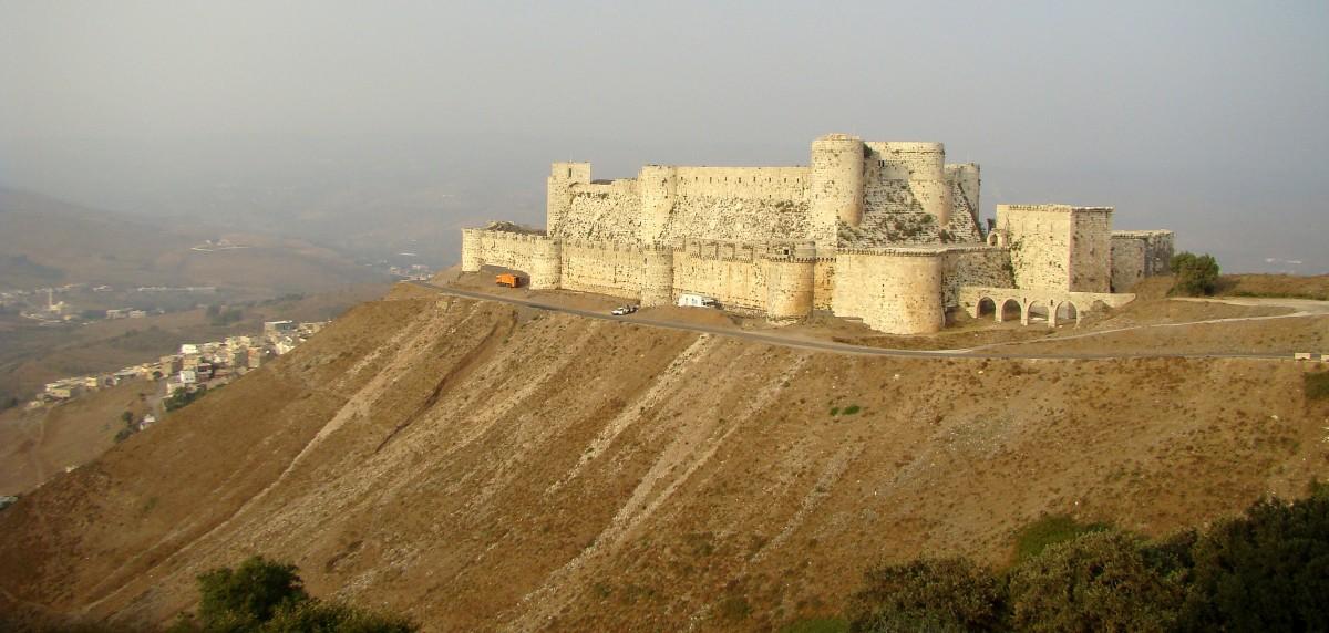 Zdjęcia: góry  Dżabal an-Nusajrijja, zachodnia Syria, Krak des Chevaliers, SYRIA