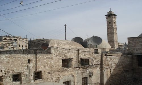 Zdjęcie SYRIA / Aleppo / Aleppo/Halab, Stare Miasto / Minaret meczetu Umajjadów (1)
