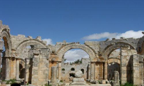 Zdjecie SYRIA / - / Kalat Seman /  Ruiny kościoła Szymona Słupnika, V w.