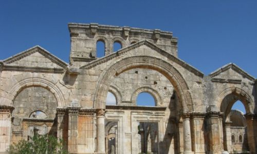 Zdjęcie SYRIA / - / Kalat Seman / Kościół Szymona Słupnika V w.