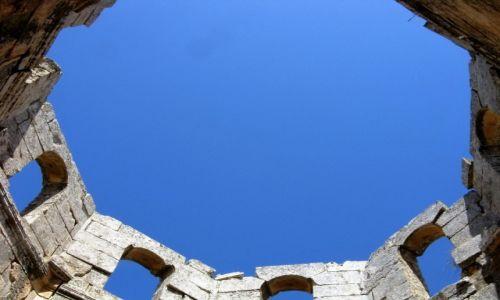 Zdjecie SYRIA / - / Kalat Seman / Ruiny baptysterium