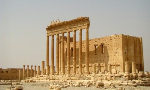 Zdjęcie SYRIA / Pustynia Syryjska / Palmyra / Świątynia Bela