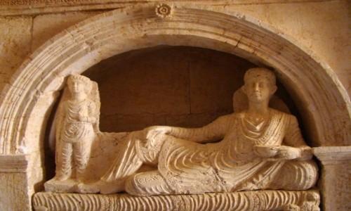 Zdjęcie SYRIA / Pustynia Syryjska / Palmyra / Rzeźba sepulklarna