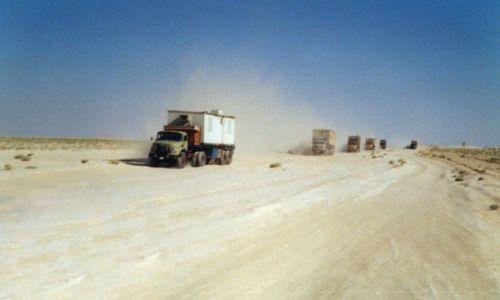 Zdjecie SYRIA / Pustynia syryjska / brak / Droga przez pustynie