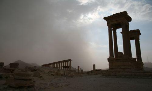 Zdjecie SYRIA / brak / Palmyra / Palmyra - idzie burza