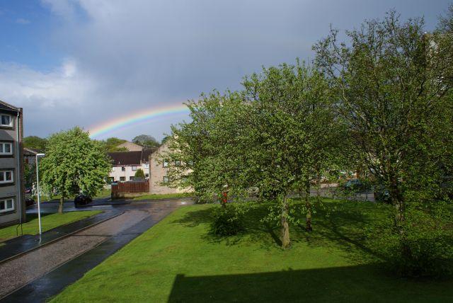 Zdjęcia: osiedle, Aberdeen, Tecza, SZKOCJA