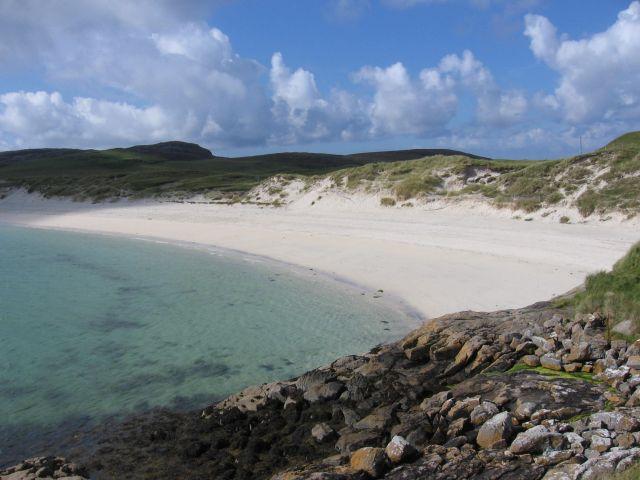 Zdjęcia: piaszczysta plaża, Hebrydy Zewnętrzne, Wyspa Barra, SZKOCJA