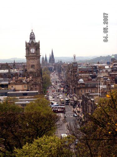 Zdjęcia: Edynburg , Szkocja, EDYNBURG- Princes Street , SZKOCJA