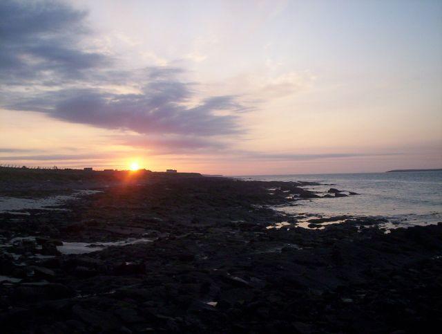 Zdjęcia: Dalej nic nie ma, Sama północ, John o'Groats- zachód słońca, SZKOCJA