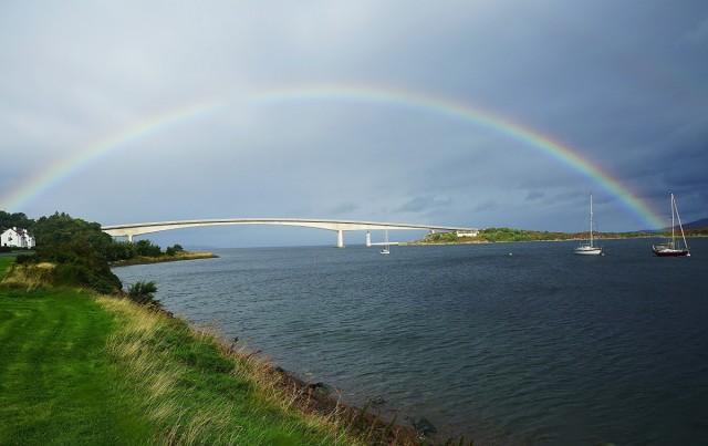 Zdjęcia: Kyleakin, Wyspa Skye, Dwa mosty, SZKOCJA