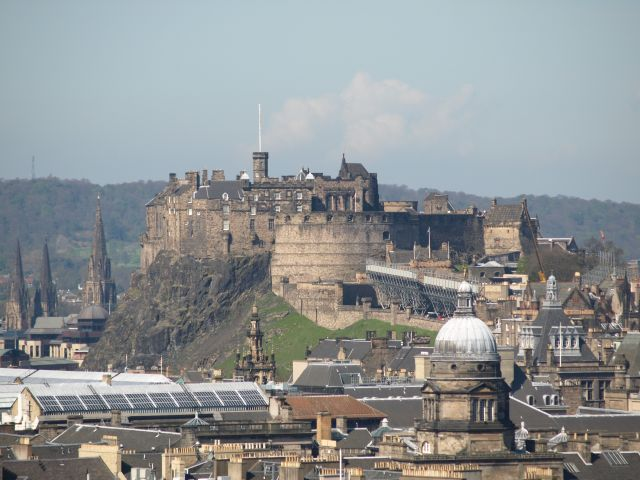 Zdjęcia: Edynburg, Edynburg, Zamek w Edynburgu- panorama, SZKOCJA