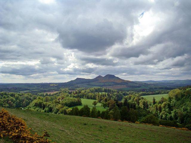 """Zdjęcia: okolice Dryburgha (droga B6356), Scottish Borders, Scott""""s View , SZKOCJA"""