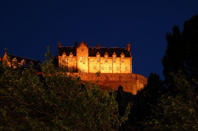 Zdjęcia: Edinburgh, Zamek w Edinburghu nocą, SZKOCJA