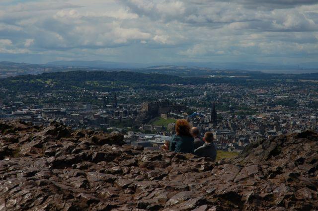 Zdjęcia: Arturh's seat, Edinburgh, Panorama Edinburgha z Arturh's seat, SZKOCJA