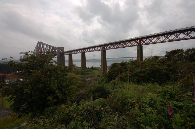 Zdjęcia: przeprawa nad zatoka Firth of Forth, Środkowa Szkocja, Forth Rail Bridge and Forth Road Bridge, SZKOCJA