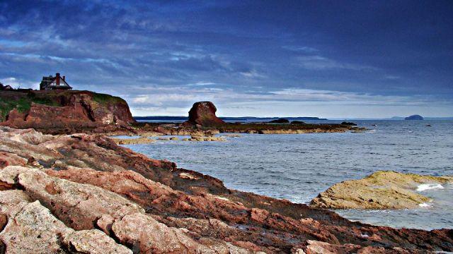Zdjęcia: Dunbar, East Scotland, zatoczka w Dunbar, SZKOCJA