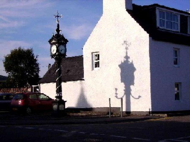 Zdjęcia: Ullapool, Highlands, Ullapool - zegar, SZKOCJA