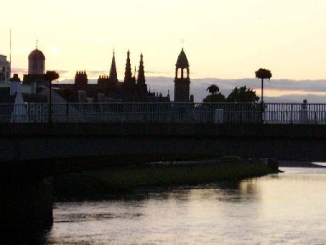Zdjęcia: Inverness, pn. Szkocja, Inverness o zmroku, SZKOCJA