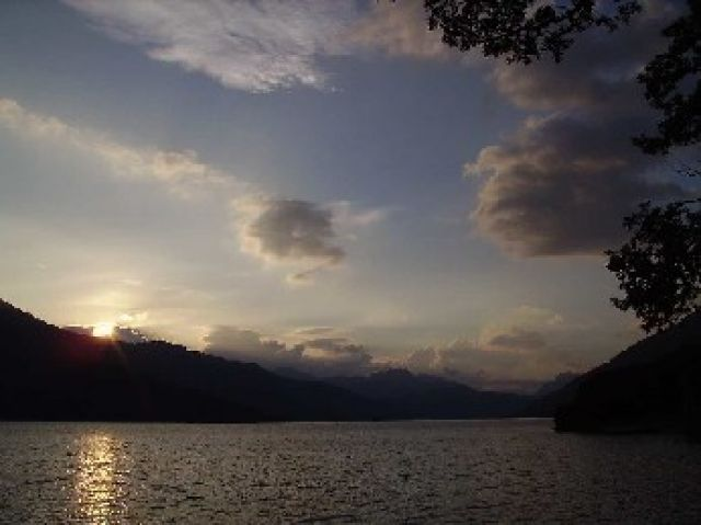 Zdjęcia: Rowardennan, środkowa Szkocja, wieczór nad Loch Lomond, SZKOCJA