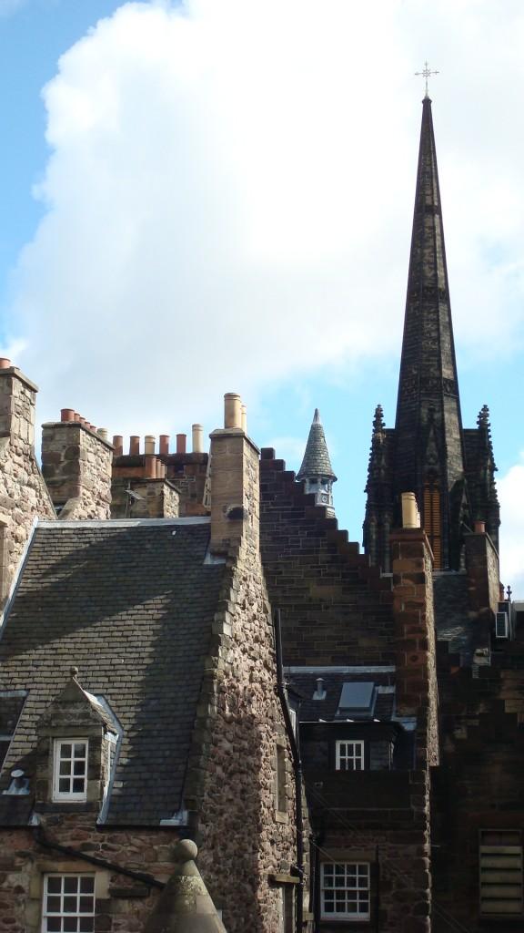 Zdjęcia: Edynburg, Lothian, szpiczaste dachy, SZKOCJA