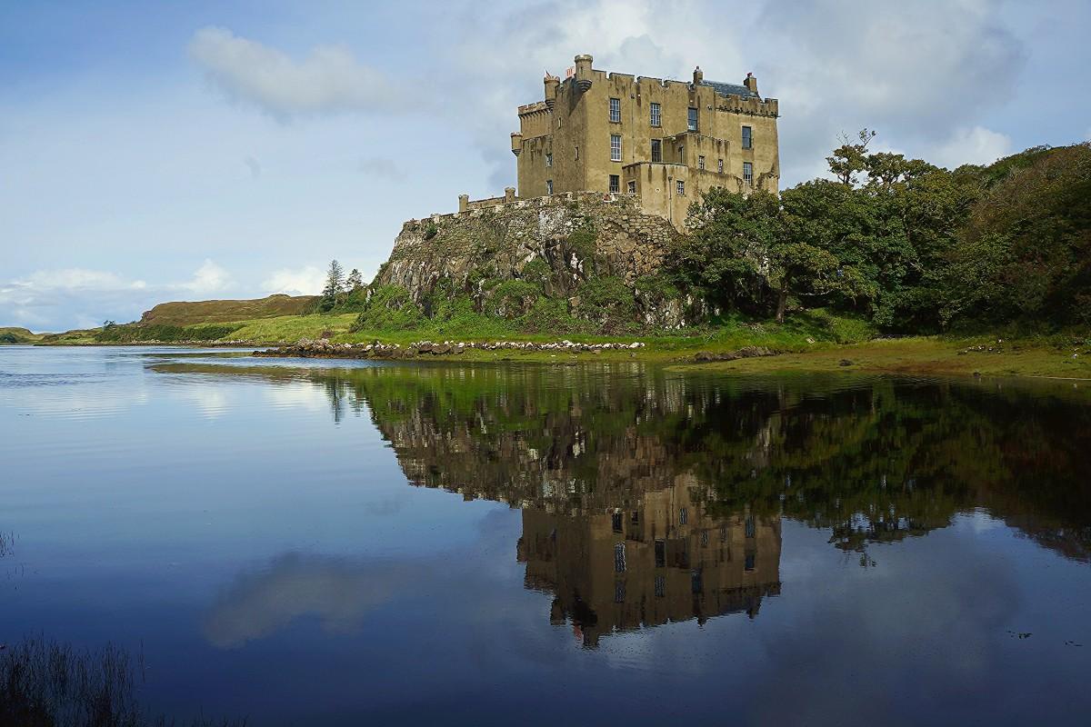 Zdjęcia: Loch Dunvegan, Wyspa Skye, Zamek, SZKOCJA