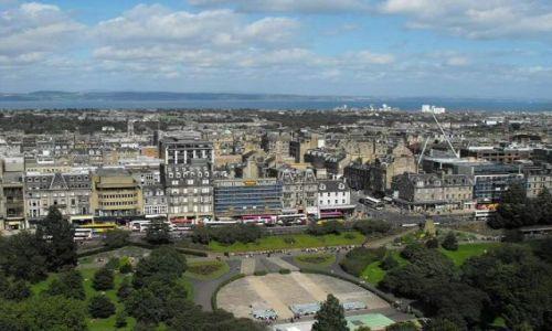 Zdjecie SZKOCJA / - / Edynburg / widok z Edinburgh Castle na miasto