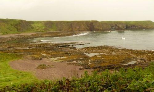 Zdjęcie SZKOCJA / Aberdeen-shire / Stonehaven / w drodze na zamek