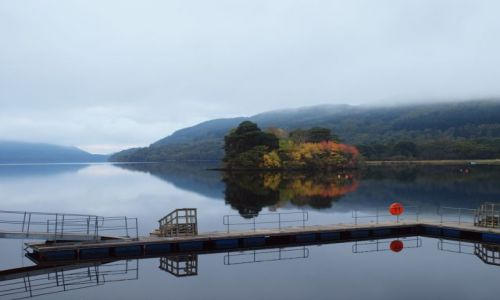 Zdjecie SZKOCJA / - / Loch Lomond / Jesien