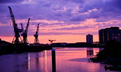 Zdjęcie SZKOCJA / - / glasgow / zachod slonca nad Glasgow