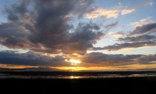 Zdjęcie SZKOCJA / Ayrshire / Troon / Zachód słońca nad wyspa Arran
