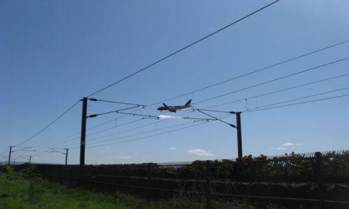 Zdjęcie SZKOCJA / Ayrshire / Prestwick / Samolot na drutach