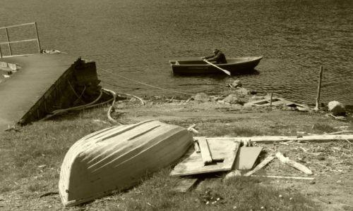 Zdjecie SZKOCJA / Higlands / W pobliżu Fort William / Stary człowiek i morze