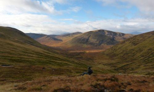 Zdjecie SZKOCJA / Higlands / Meall Na Teanga munro  / Jesienny spokój w szkockich Higlands