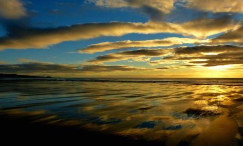 Zdjecie SZKOCJA / Aberdeen-shire / Lunan Bay / Wschod Słońca