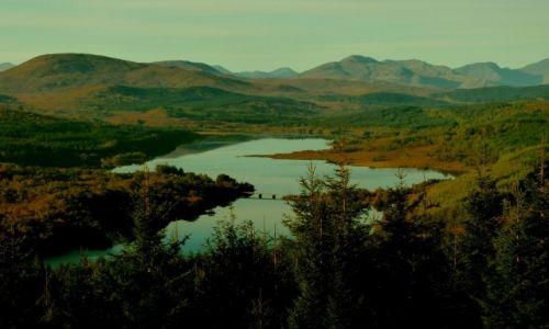 Zdjęcie SZKOCJA / Highlands / Punkt widokowy The map of Scotland / Glengarry Loch