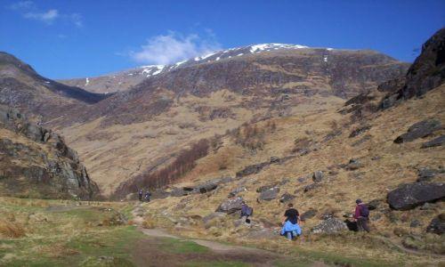 Zdjęcie SZKOCJA / Highlands / Highlands / Ben Nevis z dołu