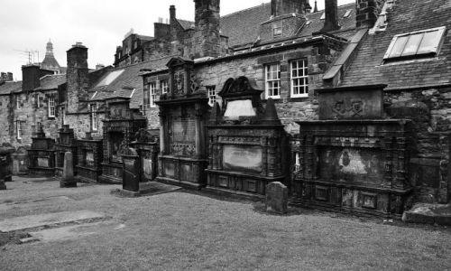 Zdjęcie SZKOCJA / Edynburg / Edynburg-Greyfriars Kirkyard / Miasto umarłych