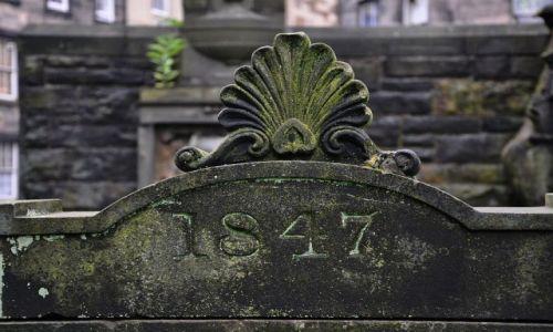 Zdj�cie SZKOCJA / Edynburg / Edynburg-Greyfriars Kirkyard / 1847